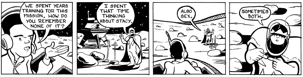 In which Astronaut Prince thinks about both . . .