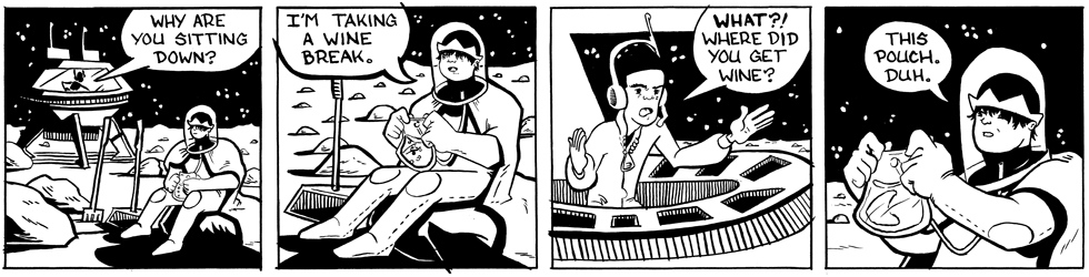 In which Astronaut Prince drinks space wine . . .