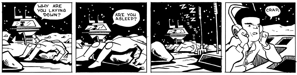 In which Astronaut Prince appears to be asleep . . .